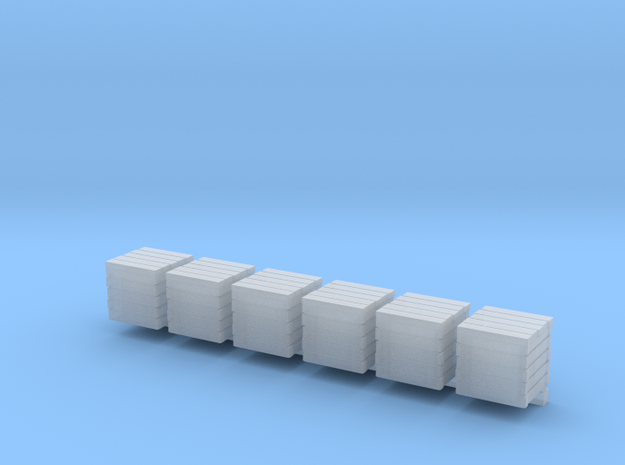 10x10mm wooden crates in Smooth Fine Detail Plastic