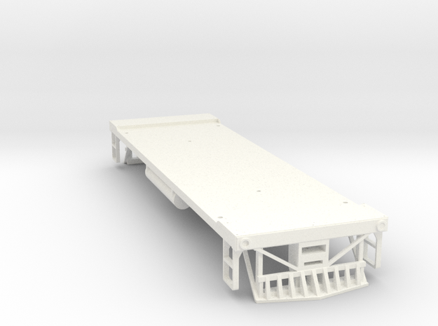 O Scale 35 Ton GE Boxcab Frame (Kitbasher's) in White Processed Versatile Plastic