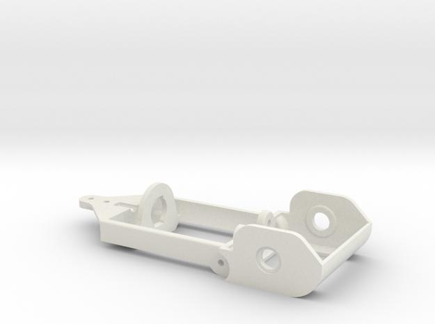 "motor holder 5 ""Back to '60"" 1/24 slotcar chassis in White Natural Versatile Plastic"