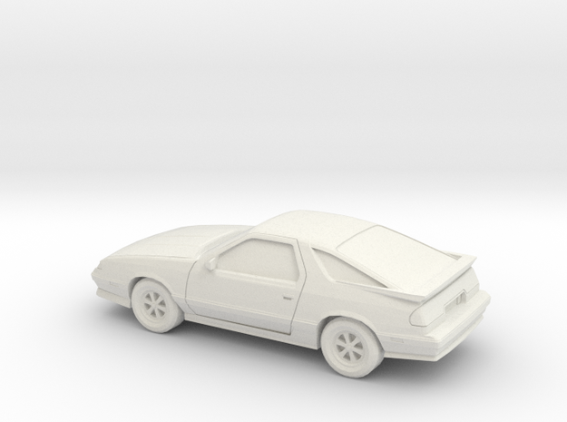 1/43 1992/93 Dodge Daytona  in White Natural Versatile Plastic