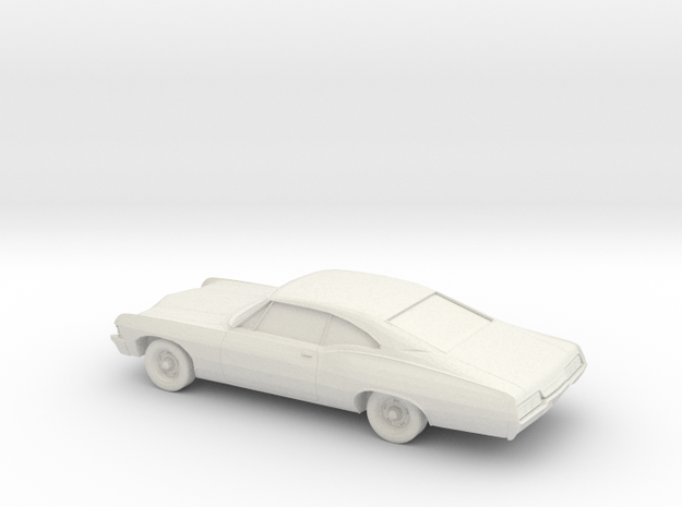 1/76 1967 Chevrolet Impala Coupe in White Natural Versatile Plastic
