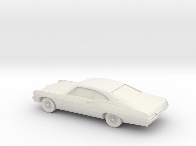1/76 1967 Chevrolet Impala Coupe in White Natural Versatile Plastic