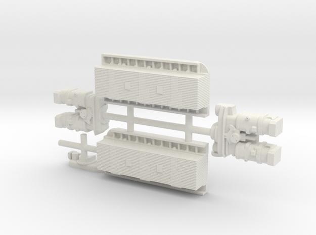 Tank Greebles in White Natural Versatile Plastic