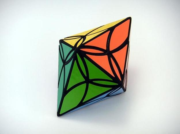 Diamond Delight Puzzle 3d printed Solved