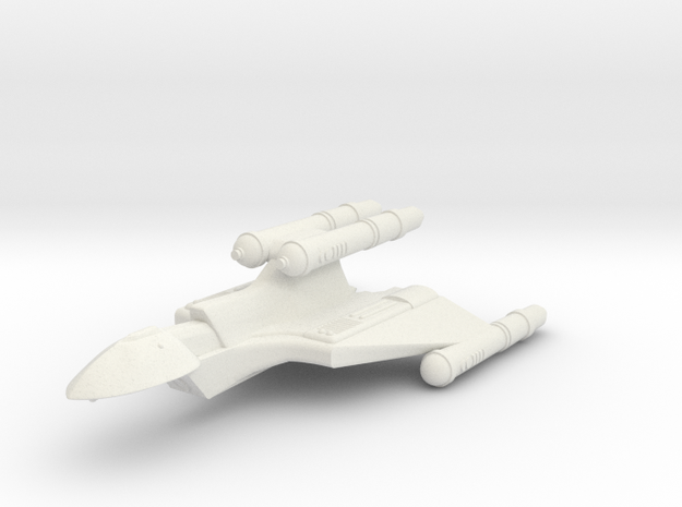 3788 Scale Romulan FastHawk-K+ Fast Heavy Cruiser in White Natural Versatile Plastic