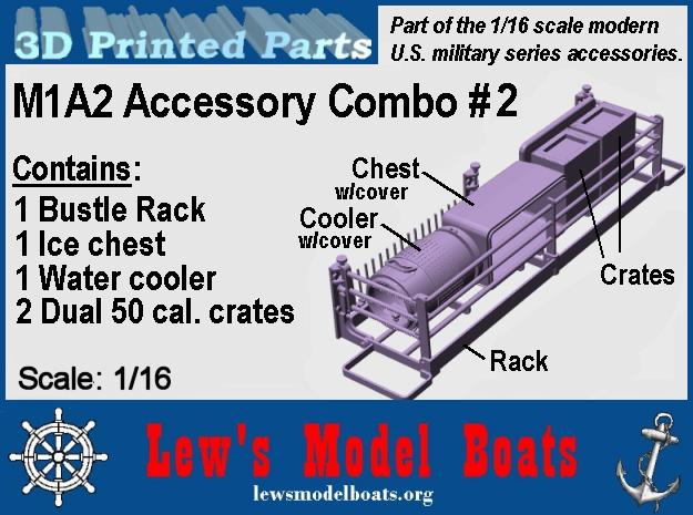 "M1A2 Abrams ""Combo-2"" 1/16 scale in White Natural Versatile Plastic: 1:16"