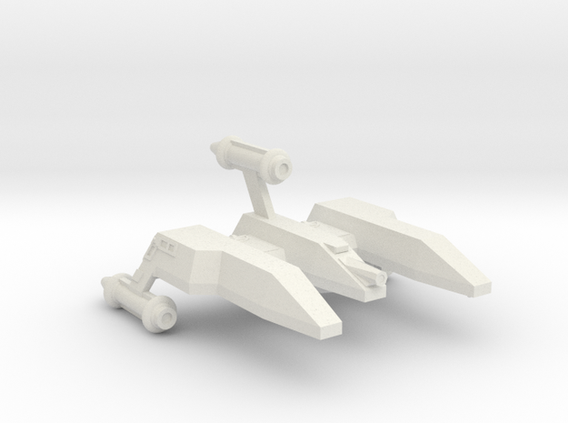 3125 Scale LDR War Cruiser Mauler CVN in White Natural Versatile Plastic