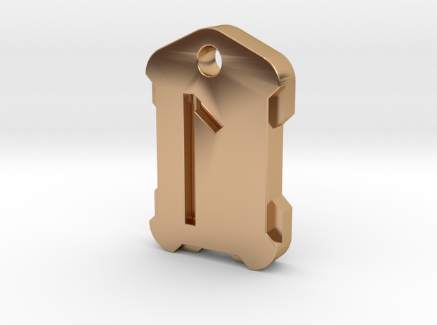 Nordic Rune Letter L in Polished Bronze