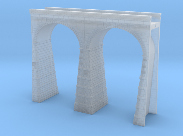 T-scale Stone Viaduct Section (2 Arches) - 90mm St