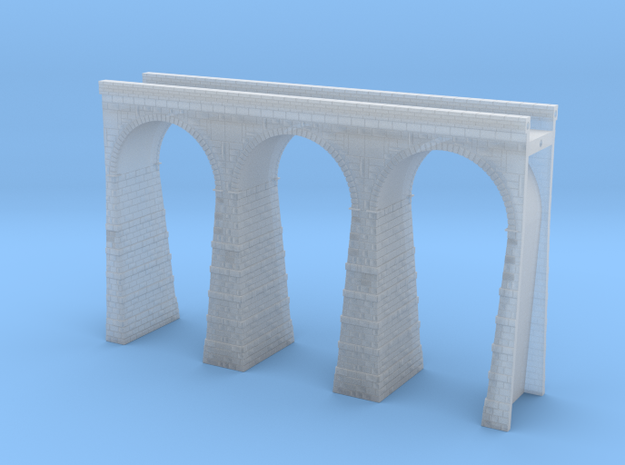 T-scale Stone Viaduct Section (3 Arches) - 112.5mm