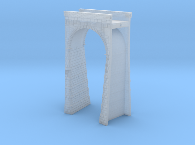 T-scale Stone Viaduct Section - 15d Curve - 145mm  in Smooth Fine Detail Plastic