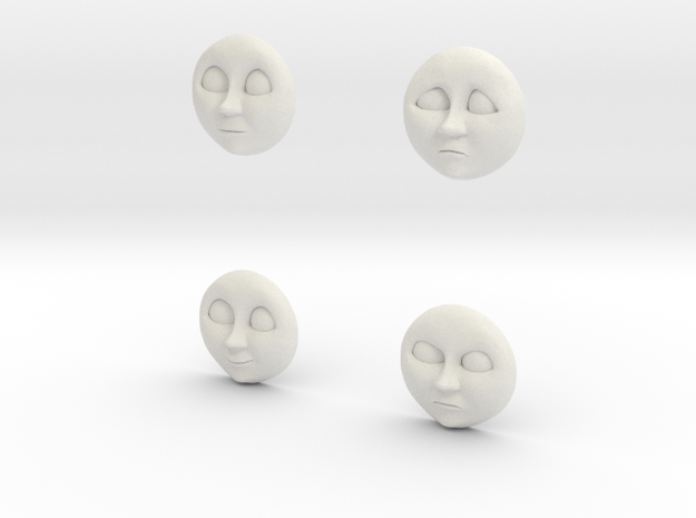 Character No 2 - Faces [H0/00] in White Natural Versatile Plastic