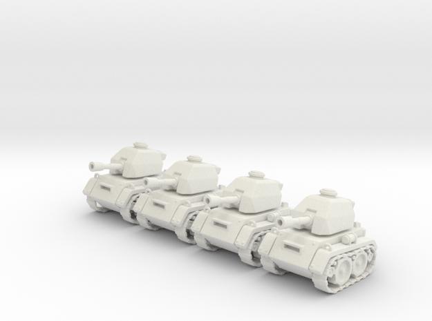 Micro Tank x4 in White Natural Versatile Plastic