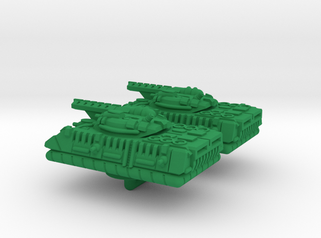 Hild Heavy Hover Armor - 3mm in Green Processed Versatile Plastic