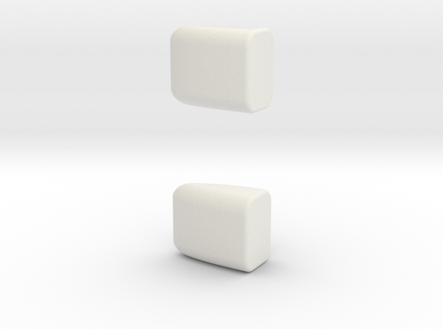 1/87 2 A/C units #2 in White Natural Versatile Plastic