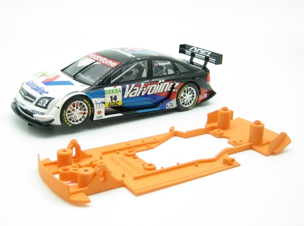PSSX00401 Chassis for Scalextric Opel Vectra in White Natural Versatile Plastic