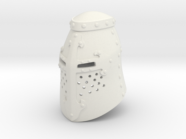 Great Helm (Full) in White Natural Versatile Plastic: Small