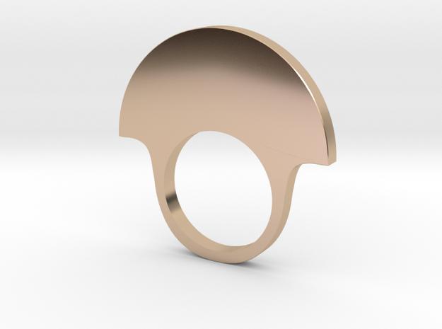 fan ring smaller in 14k Rose Gold Plated Brass: 6 / 51.5