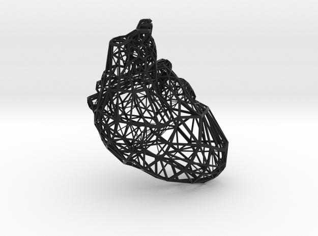 Lattice heart in Black Natural Versatile Plastic