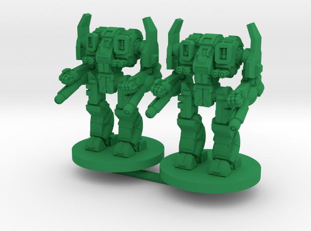 Mattock C Combat Walker- 3mm in Green Processed Versatile Plastic