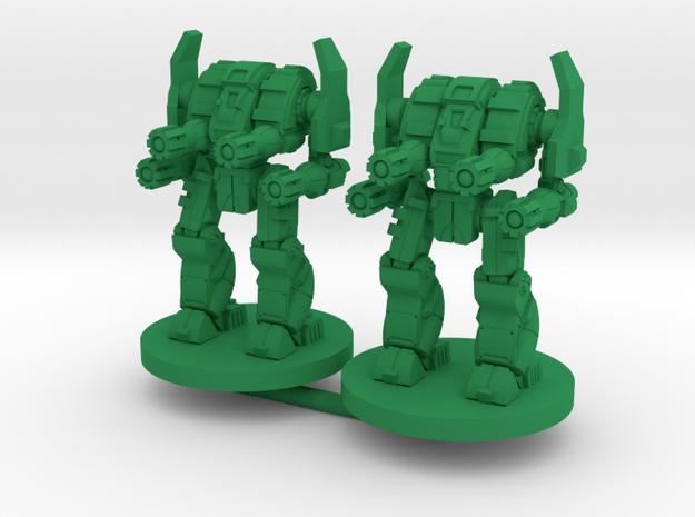Mattock D Combat Walker - 3mm in Green Processed Versatile Plastic