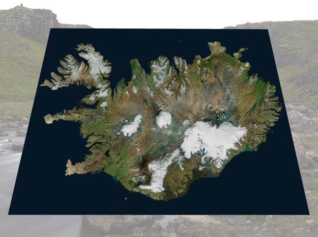 "Iceland Map, 8.5""x11"": Color"