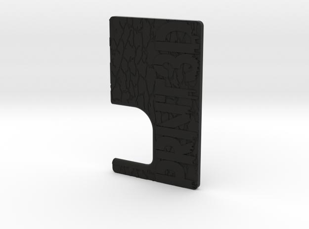 STRSS3D Mech Squonk Door in Black Natural Versatile Plastic