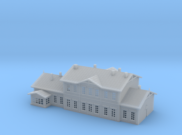 Wooden Train Station in Smooth Fine Detail Plastic