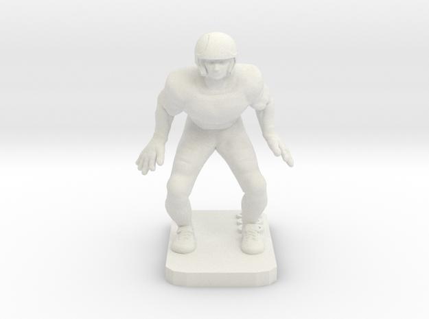 Linebacker in White Natural Versatile Plastic
