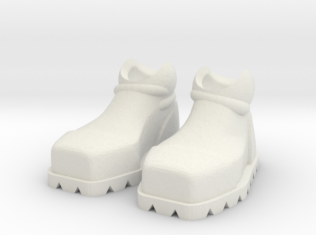 ExoSkin Boot Set for ModiBot in White Natural Versatile Plastic