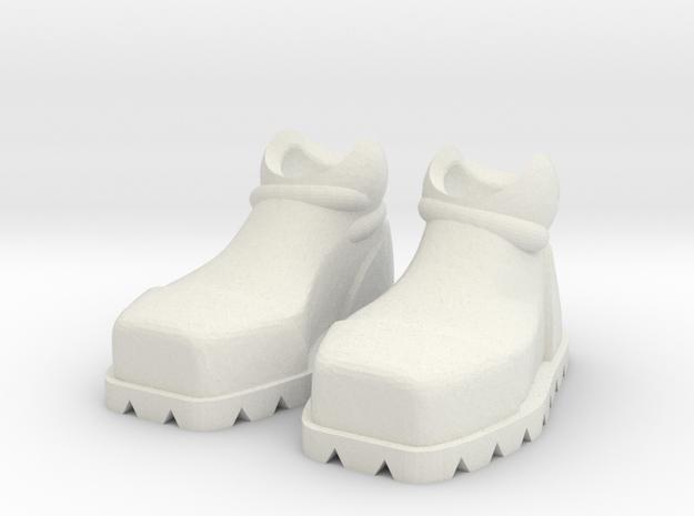 ExoSkin Boot Set for ModiBot in White Natural Versatile Plastic
