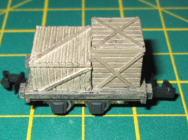 N Gauge Flatbed Truck (Motorised) in Smooth Fine Detail Plastic