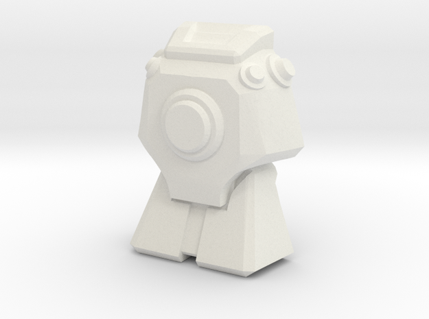 Lugnut Faceplate (Flat) in White Natural Versatile Plastic