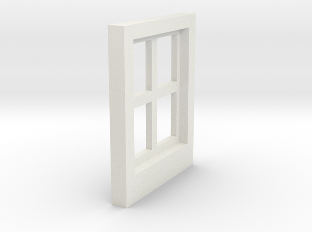 Cottage Windows - Gauge 1 / G-Scale in White Natural Versatile Plastic