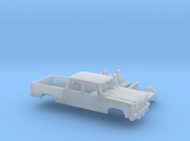 1/87 1991-93 Dodge Ram CrewCab Short Bed Kit in Smooth Fine Detail Plastic