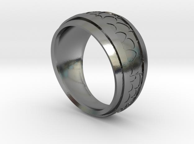 Anello-Voronoi in Polished Silver
