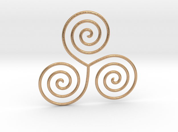 Celtic triple spiral pendant