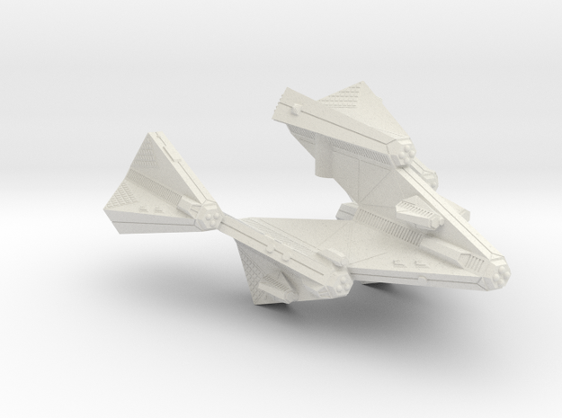 3125 Scale Tholian Stellar Domination Ship (SDS) in White Natural Versatile Plastic
