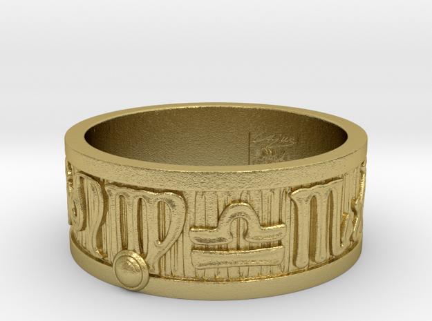 Zodiac Sign Ring Virgo / 22.5mm in Natural Brass