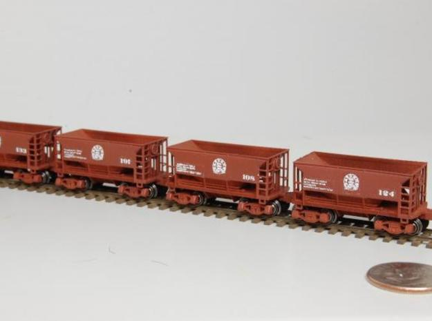 Z 70 ton ore jenny, Six Pack w/couplers in Smooth Fine Detail Plastic