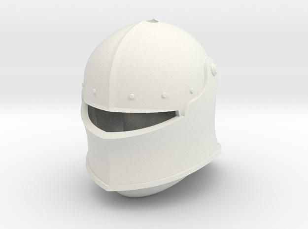Visored Sallet (For Crest) in White Natural Versatile Plastic: Small