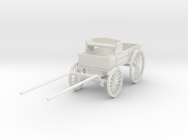 HDV03 Ranch Wagon - Stablemate (1/32) in White Natural Versatile Plastic