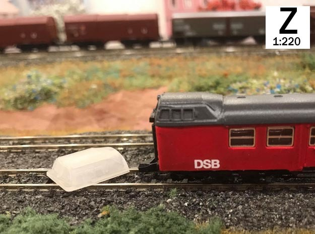 Z scale cab dome for BNS controll car in Smoothest Fine Detail Plastic
