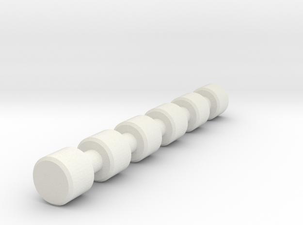 AT-ST Rod Round in White Natural Versatile Plastic