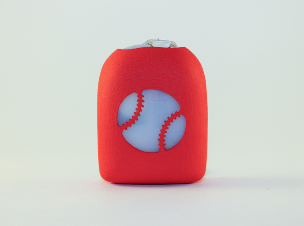 Baseball - Omnipod Pod Cover in Red Processed Versatile Plastic