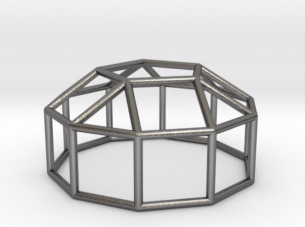 0773 J20 Elongated Pentagonal Cupola (a=1cm) #1 in Polished Nickel Steel