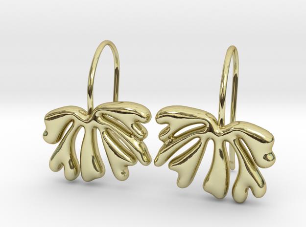 Leaf07 Earrings in 18k Gold Plated Brass