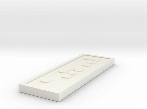Star wars Sabacc Standard credit chip in White Natural Versatile Plastic