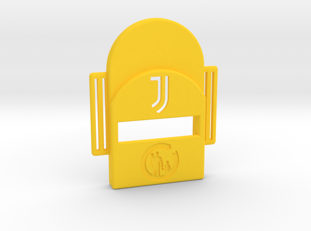 Bark Heroes: Football - J in Yellow Processed Versatile Plastic