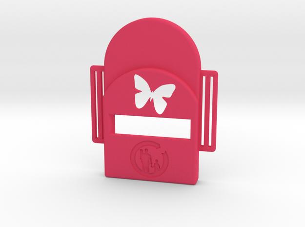Bark Heroes: Butterfly in Pink Processed Versatile Plastic